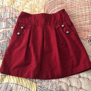 Anthropologie Elevenses Red Dirndl Skirt size 6